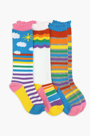 Jefferies Socks Rainbow Girls Socks 3-Pack