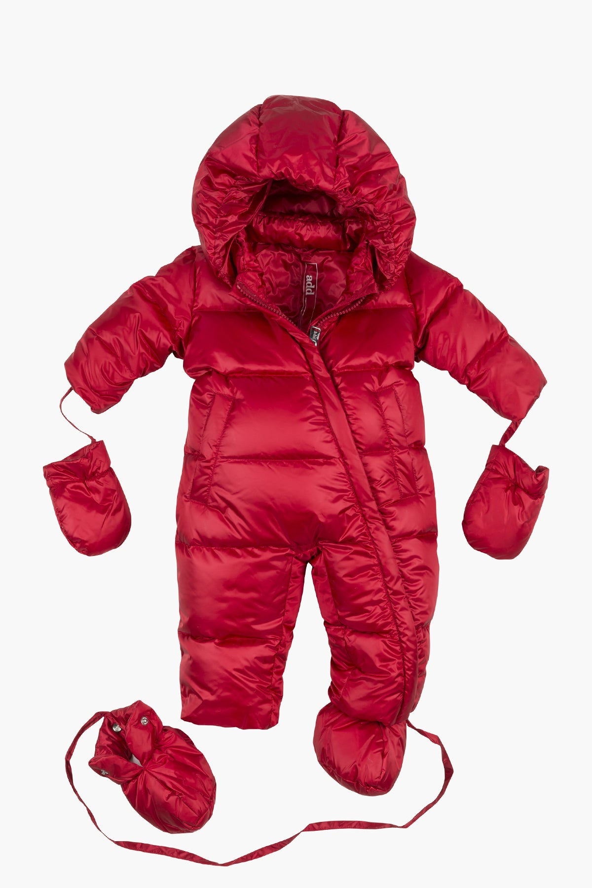 ADD Down Baby Suit - Red