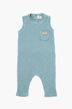 Tocoto Vintage Sleeveless Ribbed Baby Romper - Green