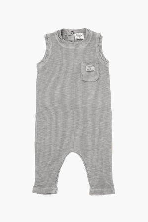 Tocoto Vintage Sleeveless Ribbed Romper - Grey