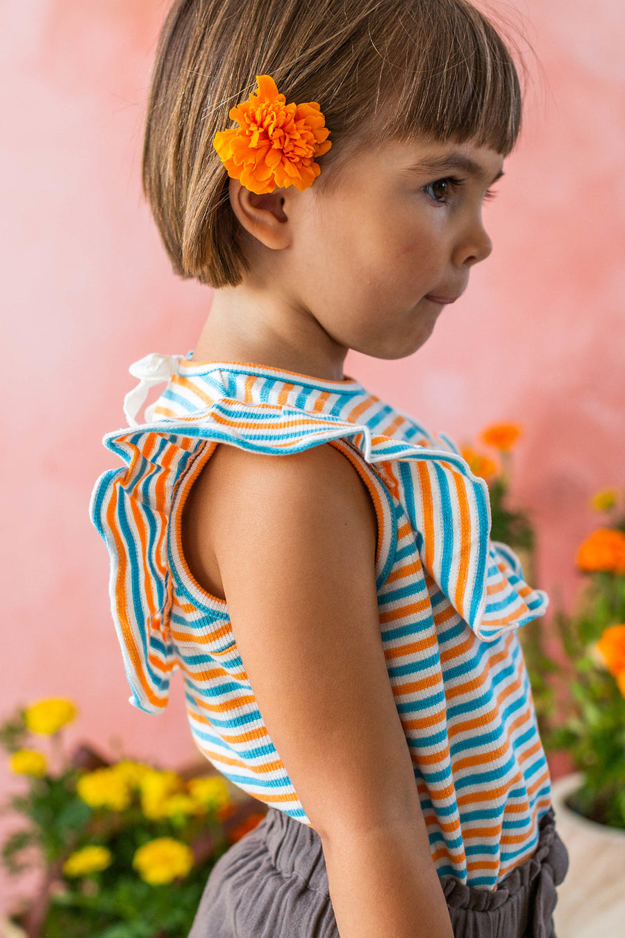 Lali Kids Ruffle Tank - Stripes