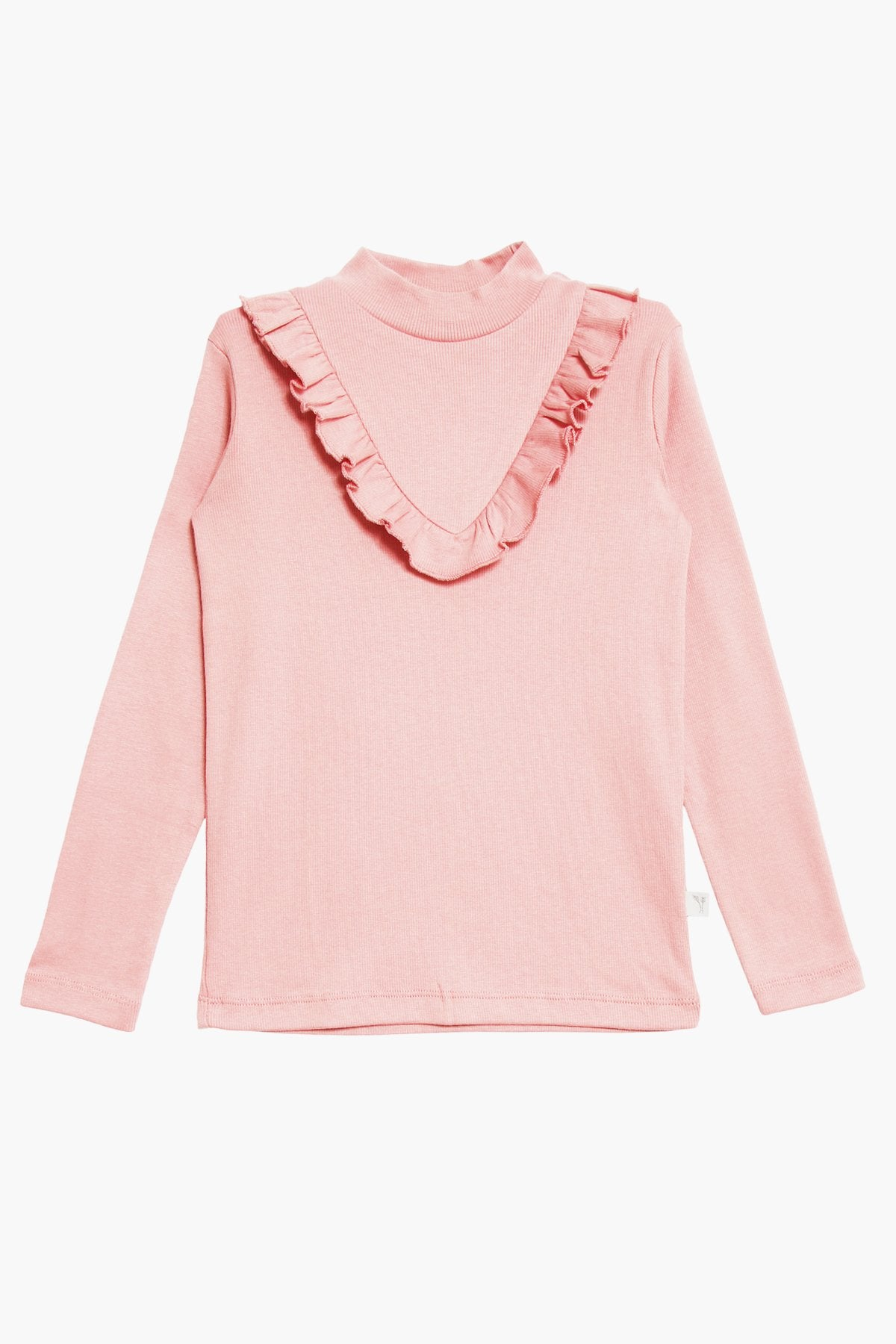 Wheat Ruffle Shirt - Misty Rose