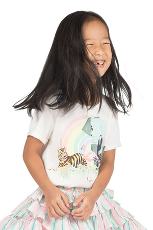 Paper Wings Rainbow Safari Tee