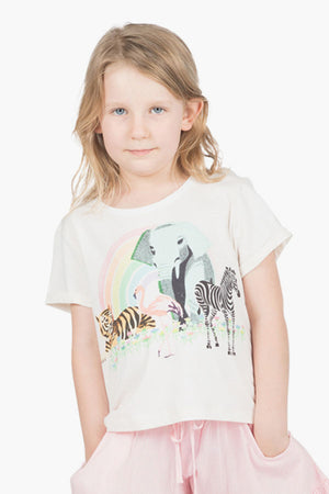 Paper Wings Rainbow Safari Girls Shirt