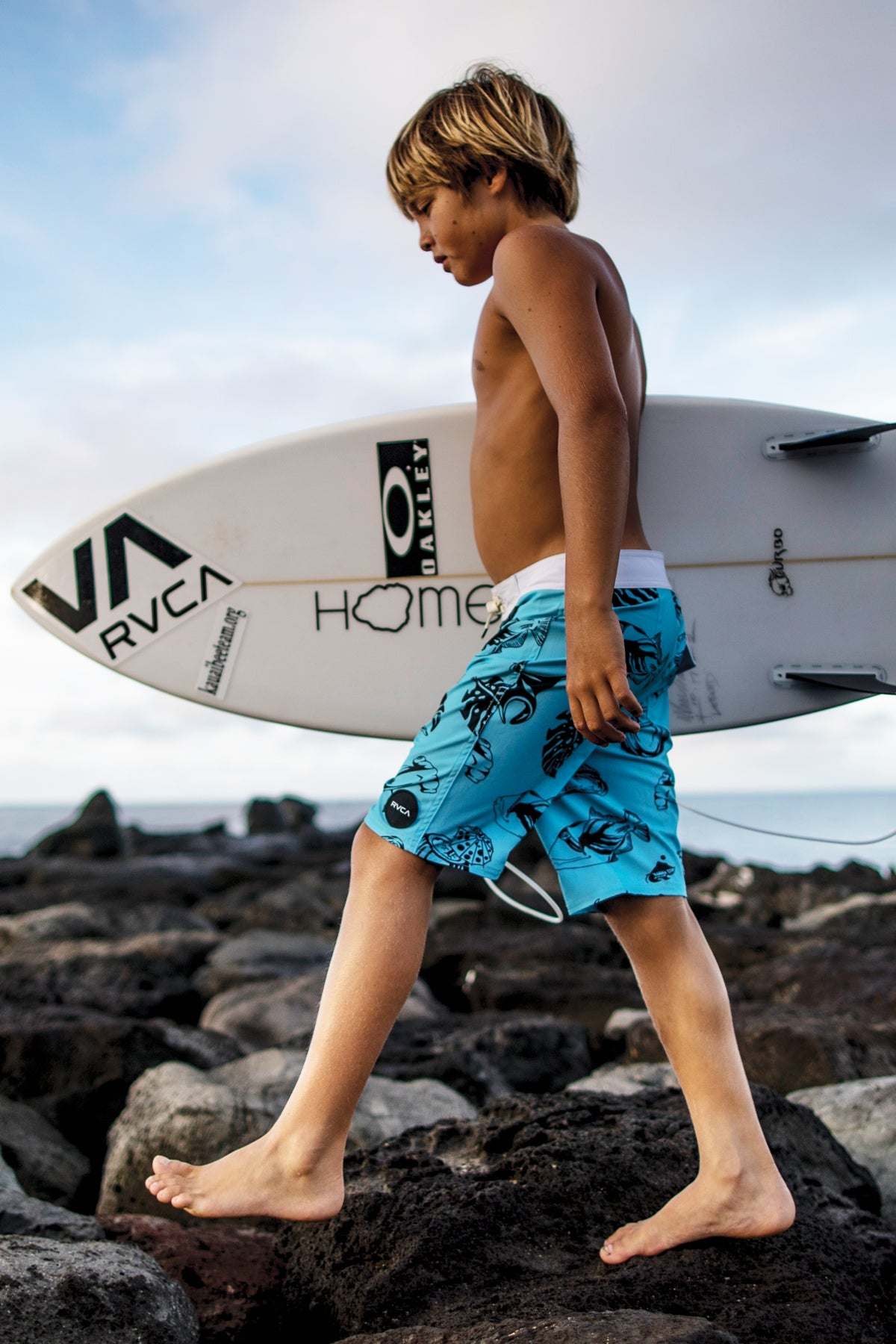 RVCA VA Trunk Sea Life Print Boys Swimsuit