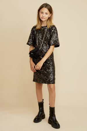 Les Coyotes de Paris Alexa Sequin Party Girls Dress