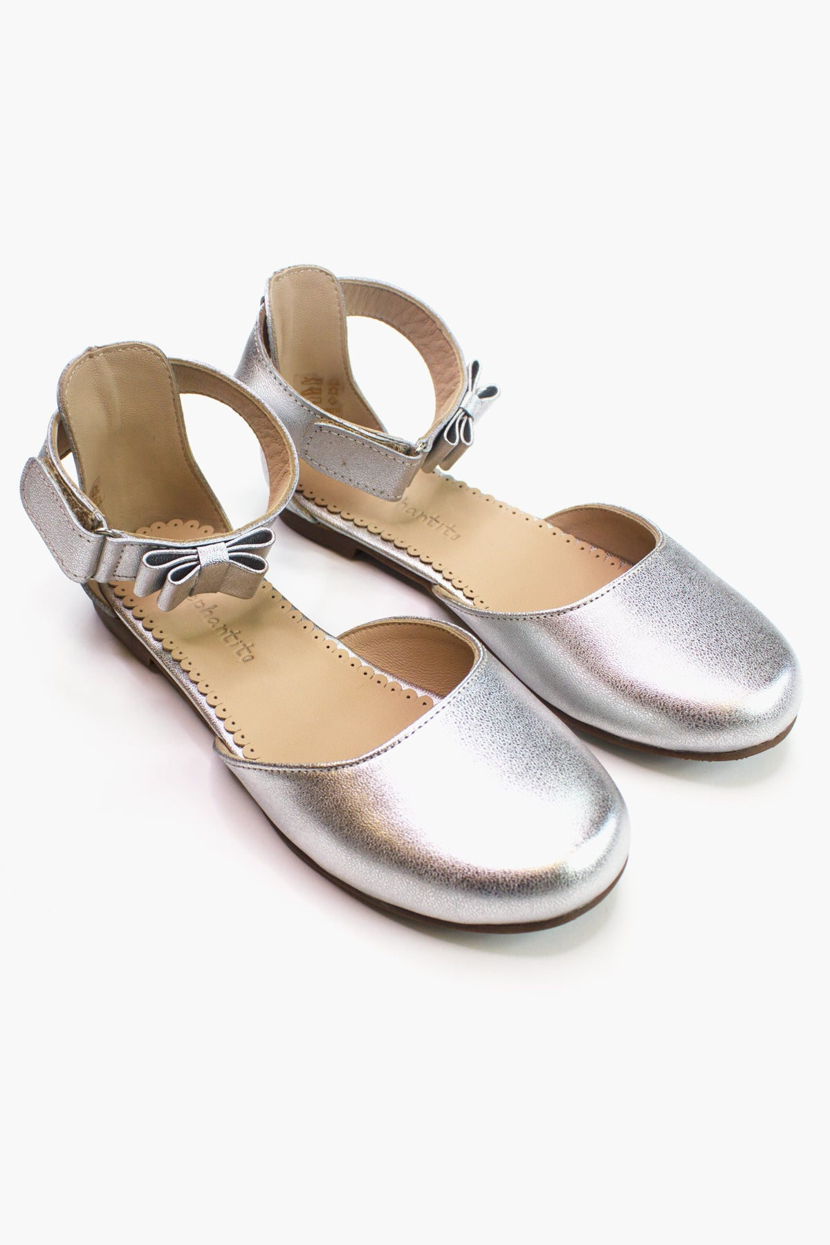 Elephantito April Flat Girls Shoes - Silver