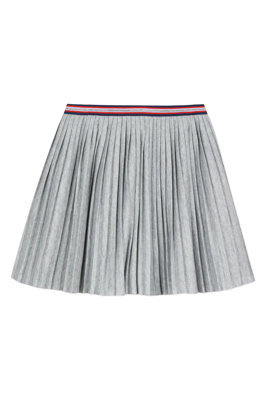 3pommes Silver Pleated Girls Skirt