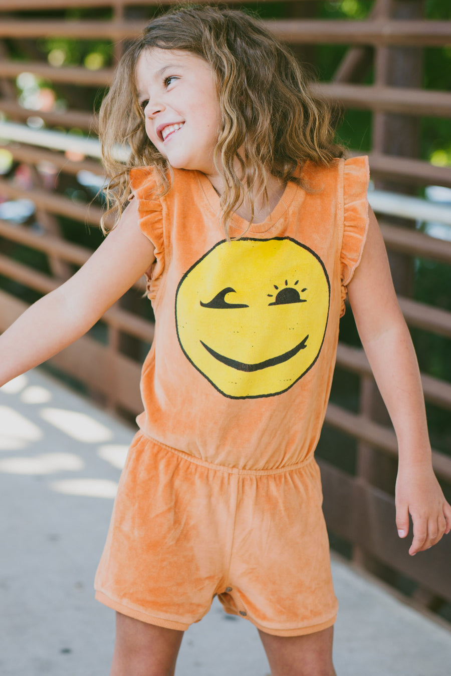 Mini Shatsu Happy Surfing Girl Romper