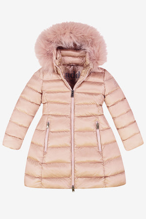 ADD Down Hooded Down Coat - Smoke Rose