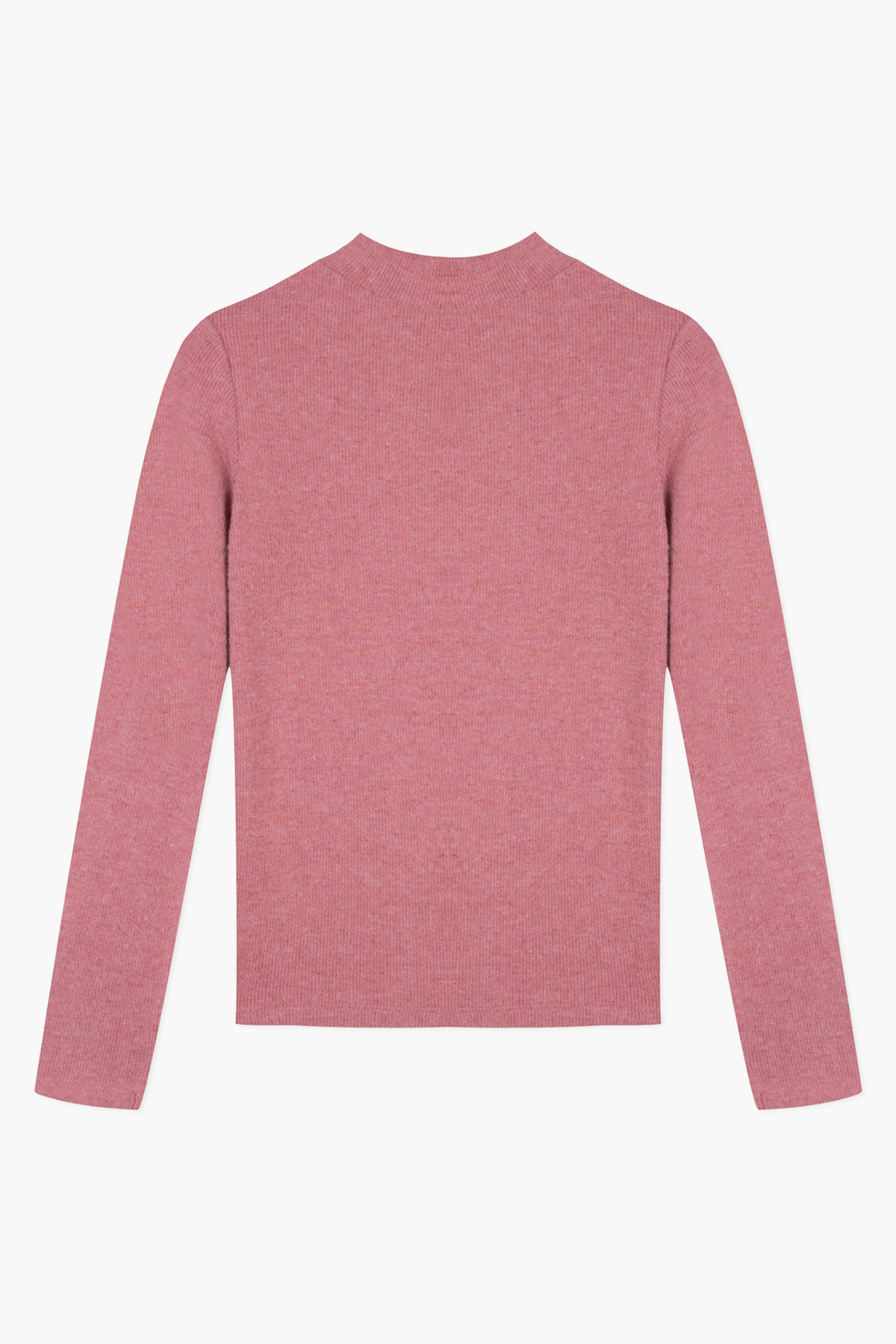 Lili Gaufrette Angora Mock Neck Top - Rose