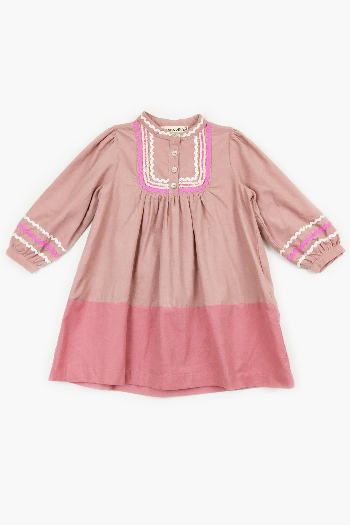 Peas and Queues Sparrow Girls Dress - Pink