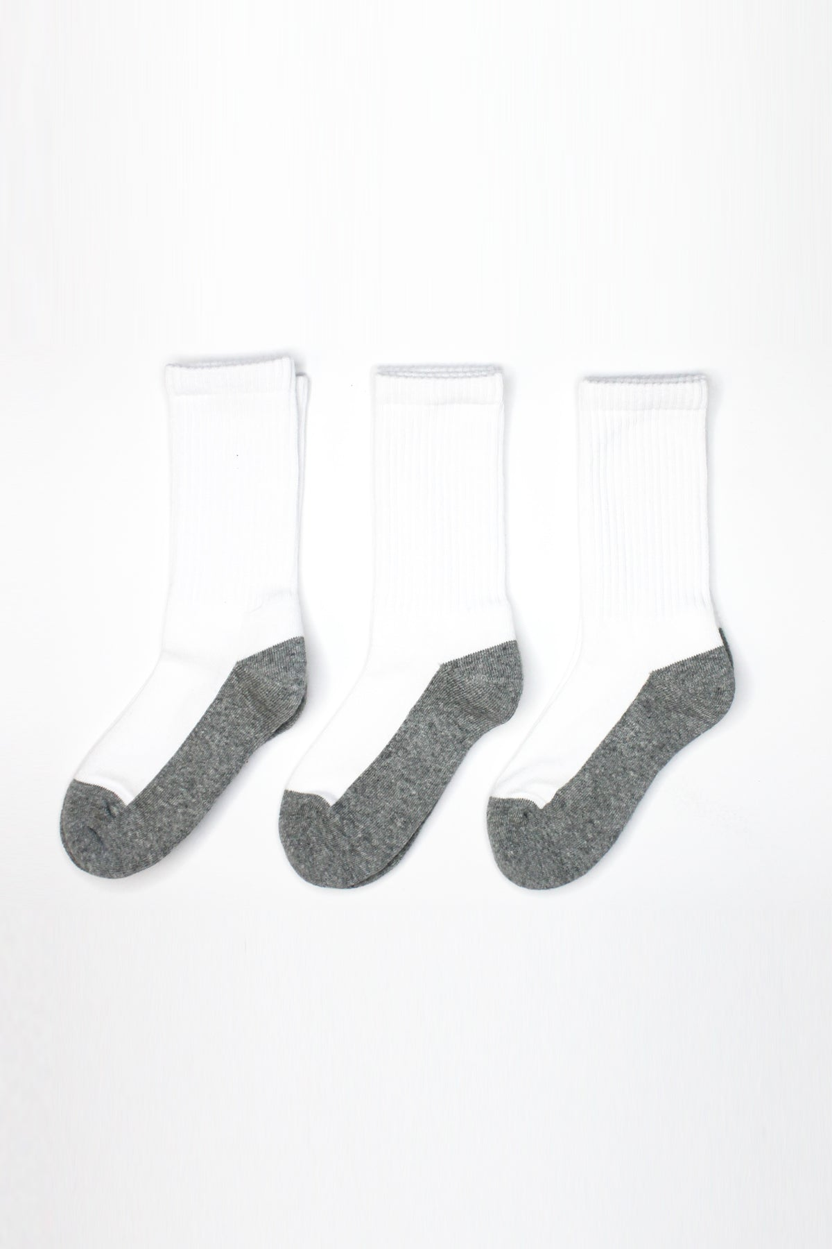 Jefferies Socks Athletic Sport Crew Kids Socks 3-Pack - White