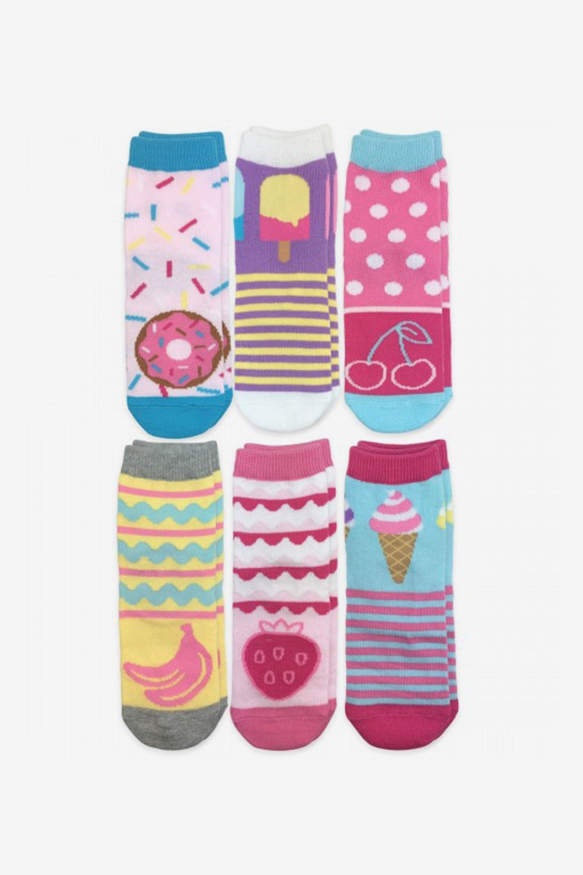Jefferies Socks Sweet Treats Crew Socks 6-Pack