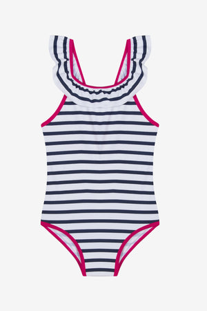 3pommes Striped Swimsuit