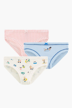 Petit Bateau 3-Pack Girls Underwear - Swimming