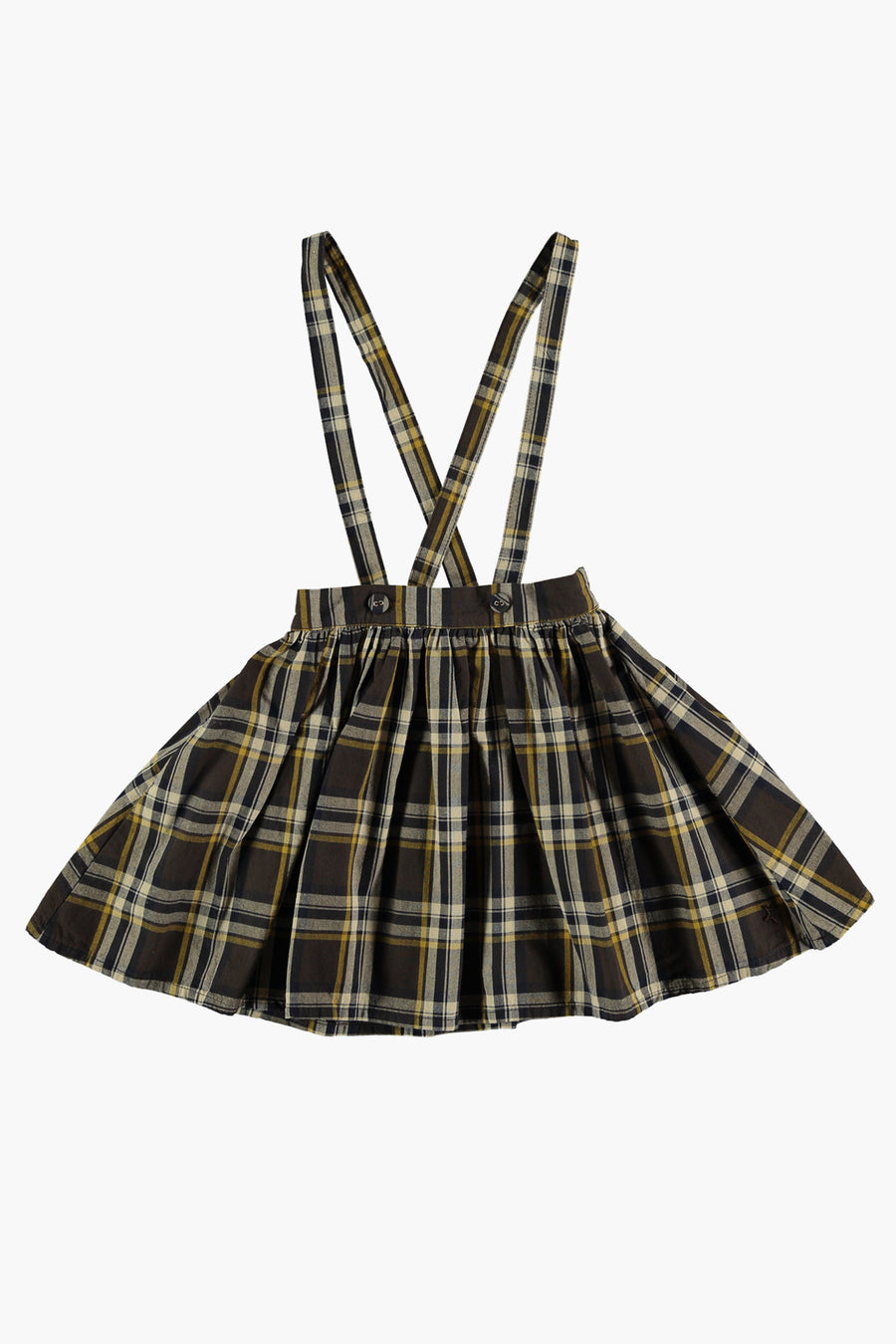 Tocoto Vintage Tartan Plaid Girls Jumper Dress