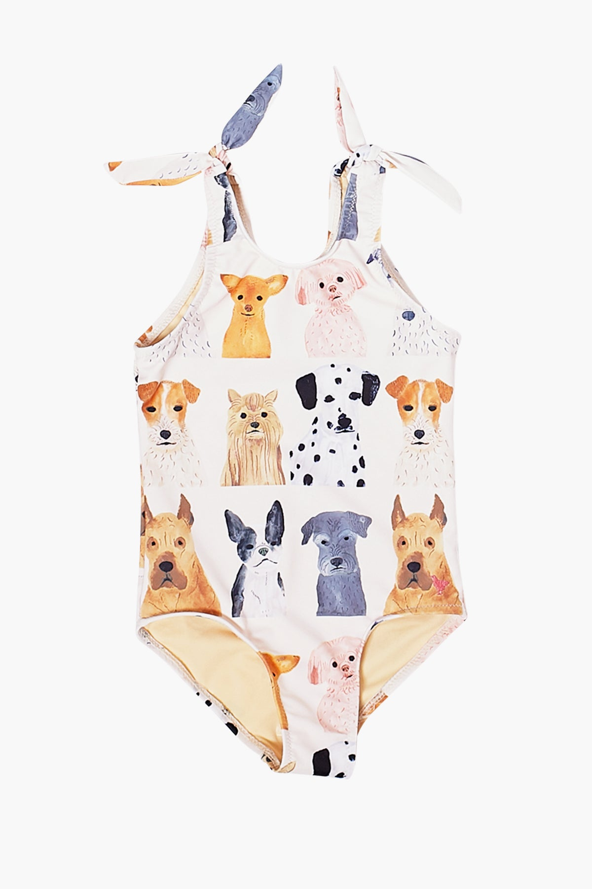 Pink Chicken Taylor Girls Swimsuit - Watercolor Dogs