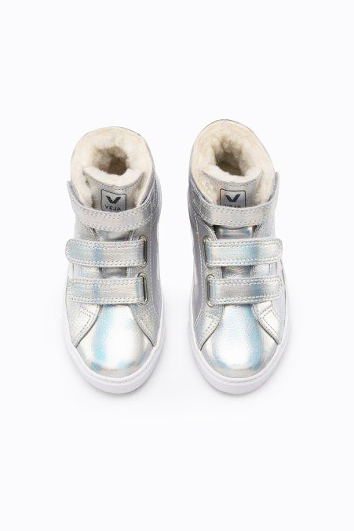 Veja Esplar Shearling High Top Kids Shoes - Unicorn White