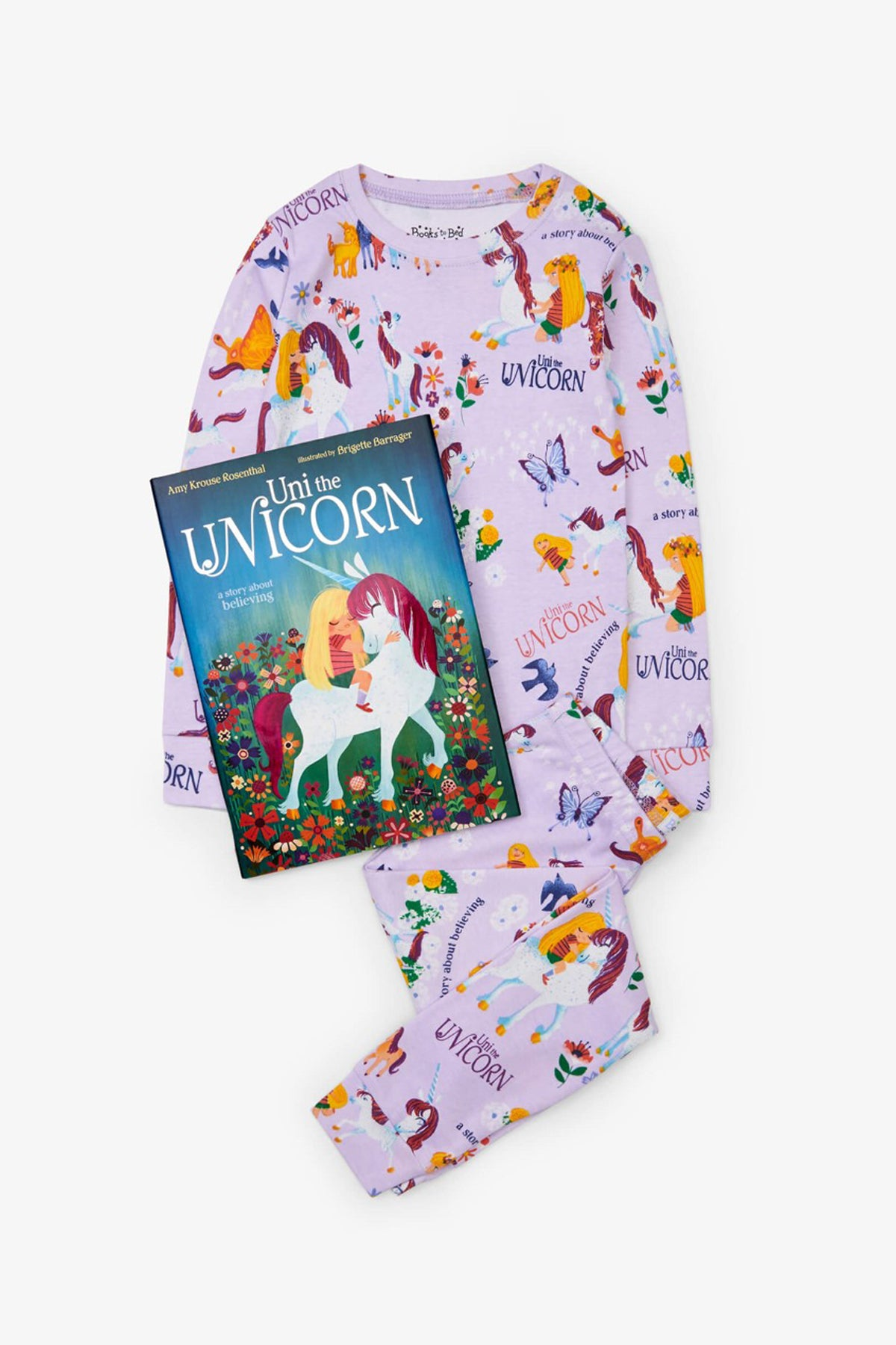 Books To Bed Uni The Unicorn Kids Pajamas and Book Set