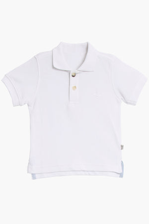 Wheat Anchor Polo - White
