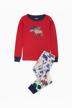 Hatley Winter Traditions Appliqué Pajama Set