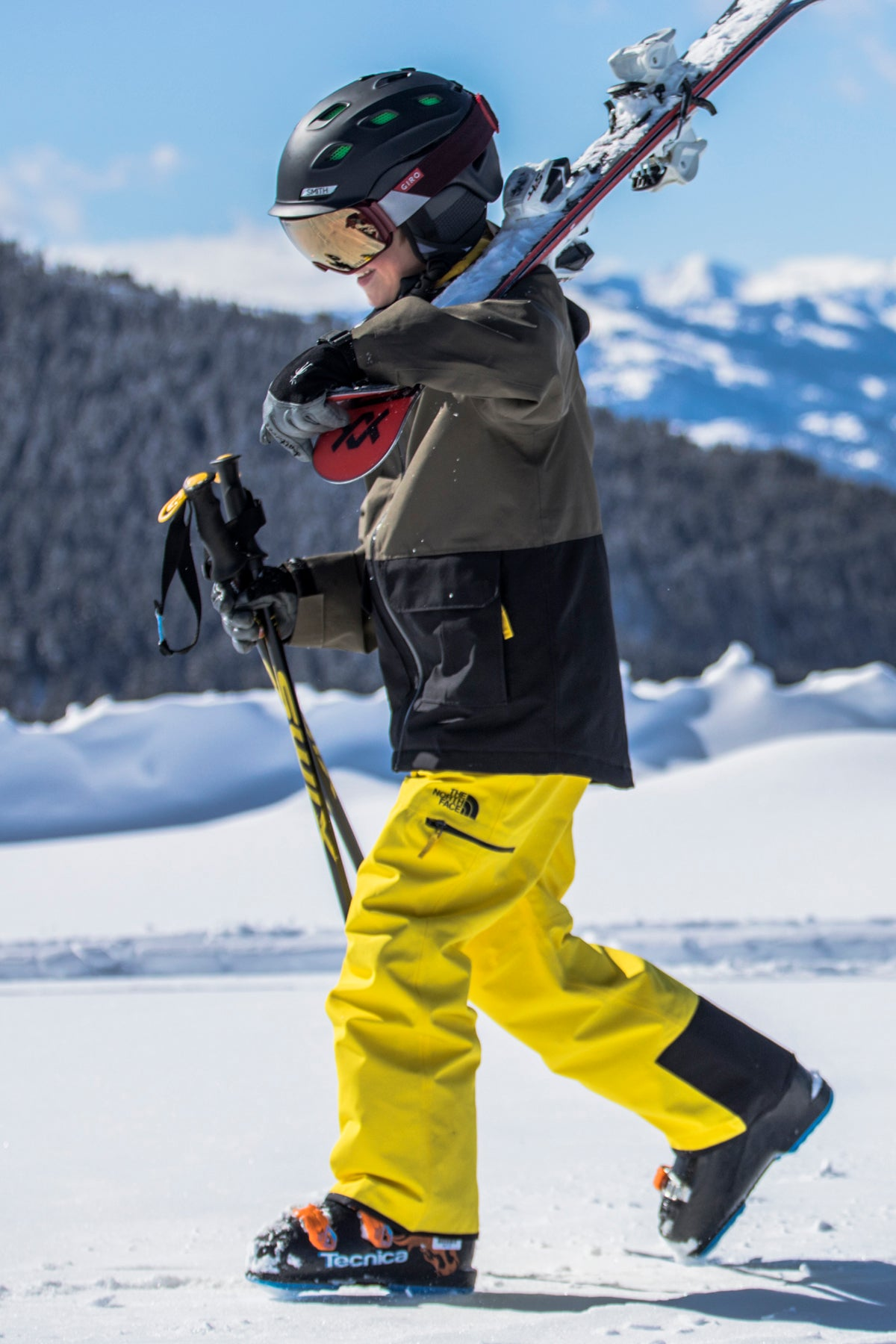 The North Face Boys Freedom Insulated Pant - Vibrant Yellow