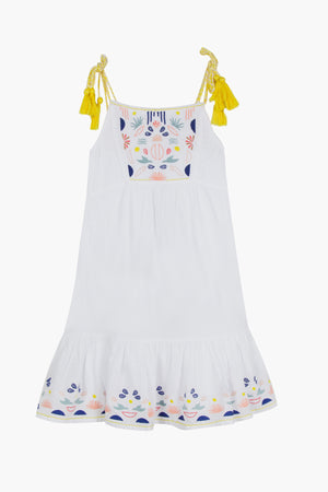 Jean Bourget Embroidered Girls Sundress