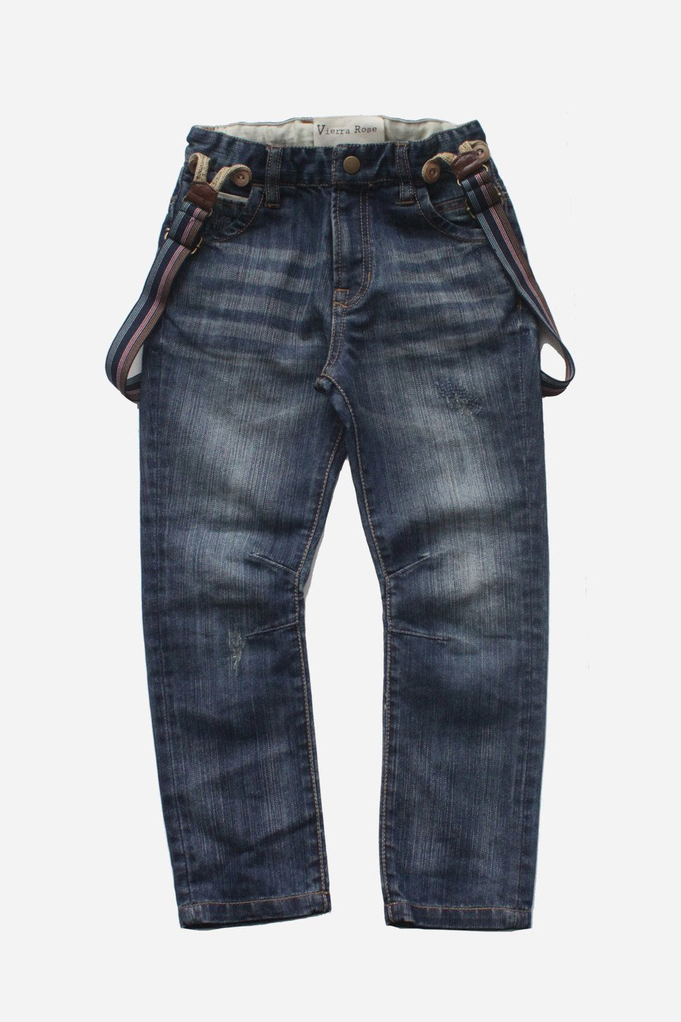 Vierra Rose Zack Boys Jeans with Suspenders