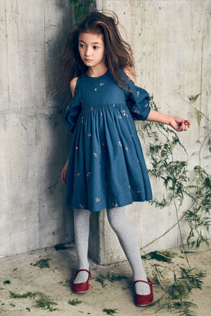 Nellystella Vanessa Dress - Autumn Melody Embroidery