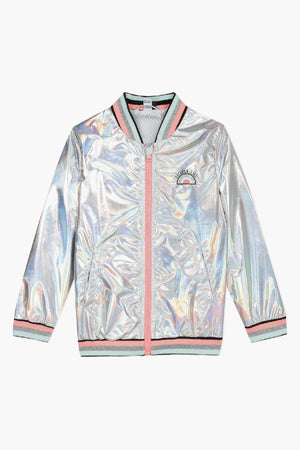 3pommes Rainbow Girl Bomber Girls Jacket