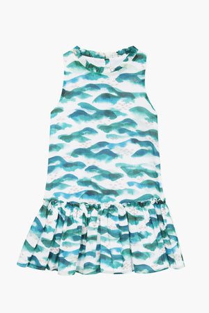 Jean Bourget Ocean Ruffle Girls Dress