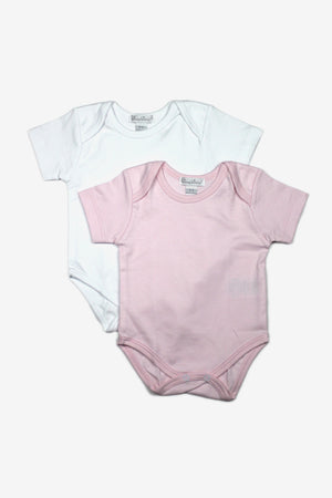 2-Pack Baby Solid Bodysuits - Pink