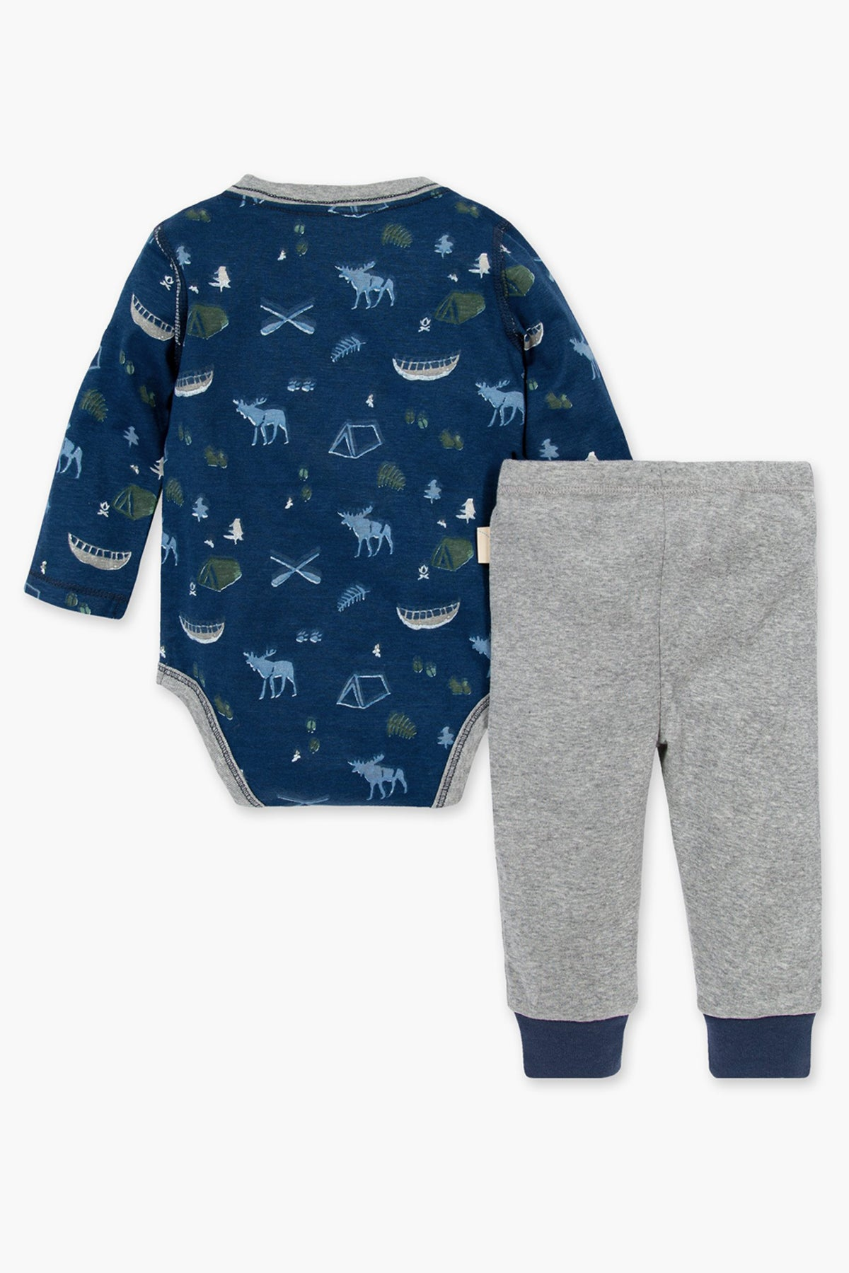 Burt's Bees Moose Trails Onesie And Baby Pants Set