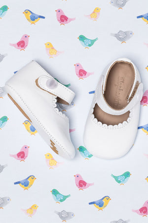 Elephantito Mary Jane Baby Shoes - White