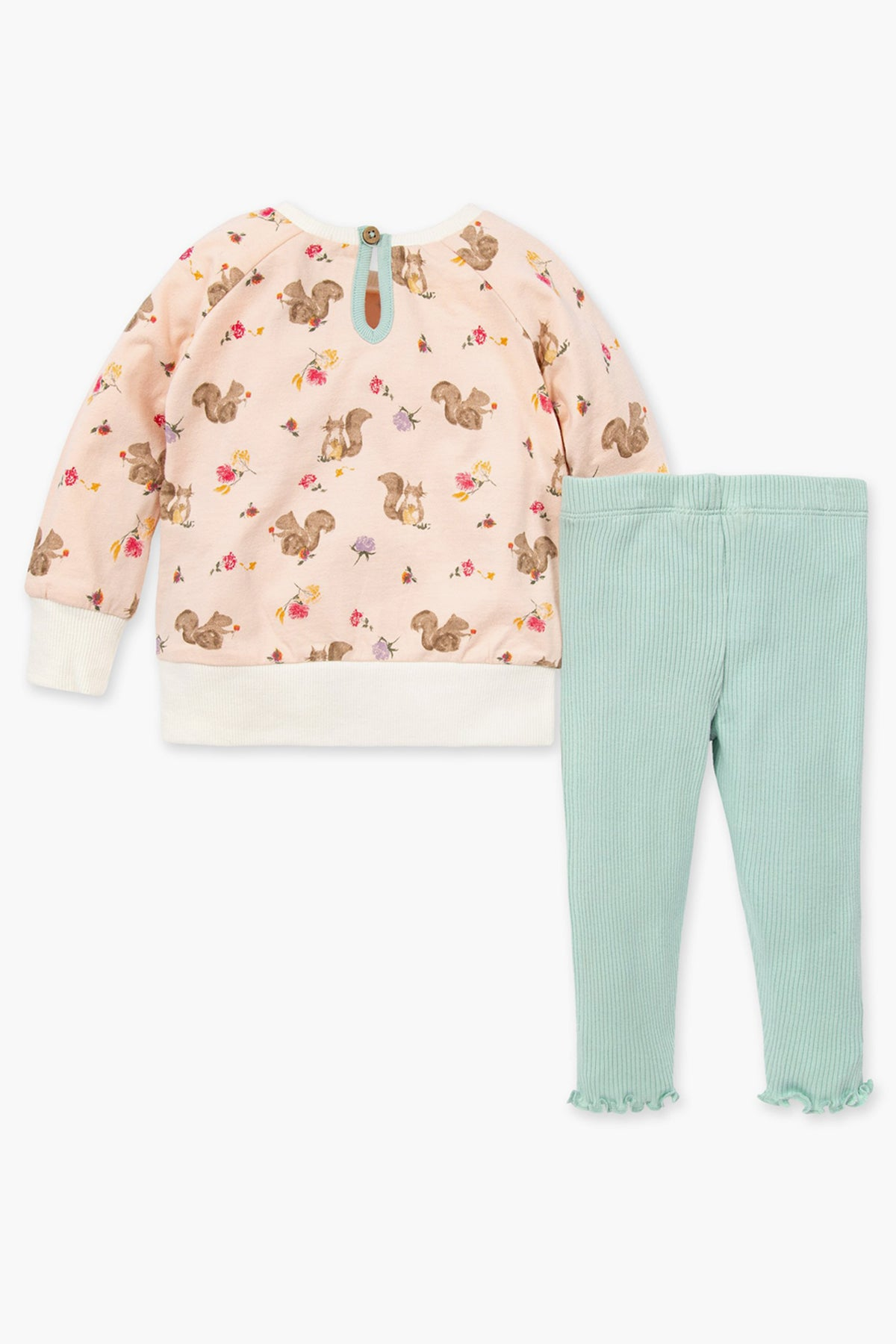 Burt's Bees Sharing Squirrels Tunic And Baby Legging Set
