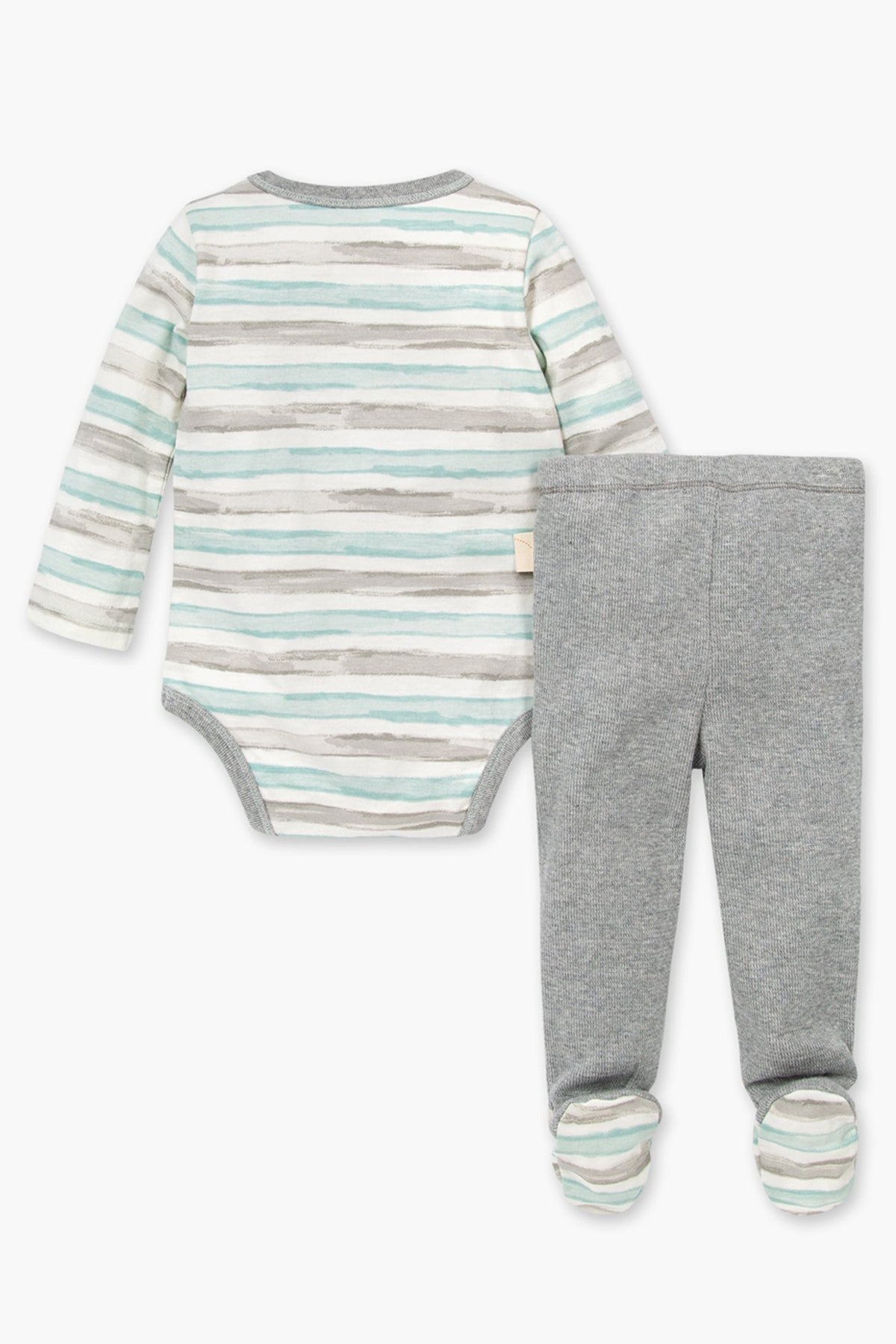 Burt's Bees Tipped Stripe Onesie And Baby Pants Set
