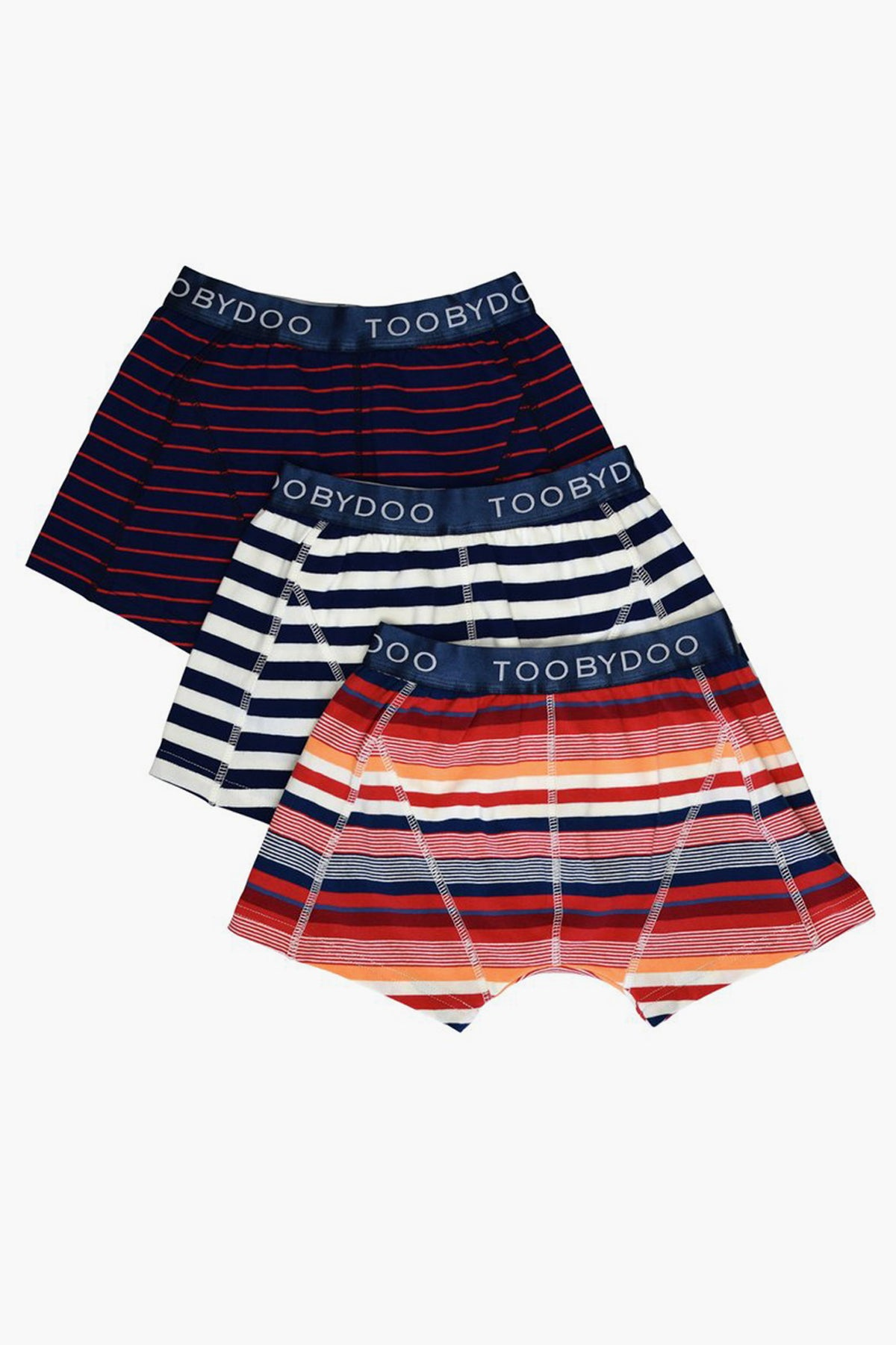 Toobydoo Boys 3 Pack Boxer Shorts - Multi Stripe
