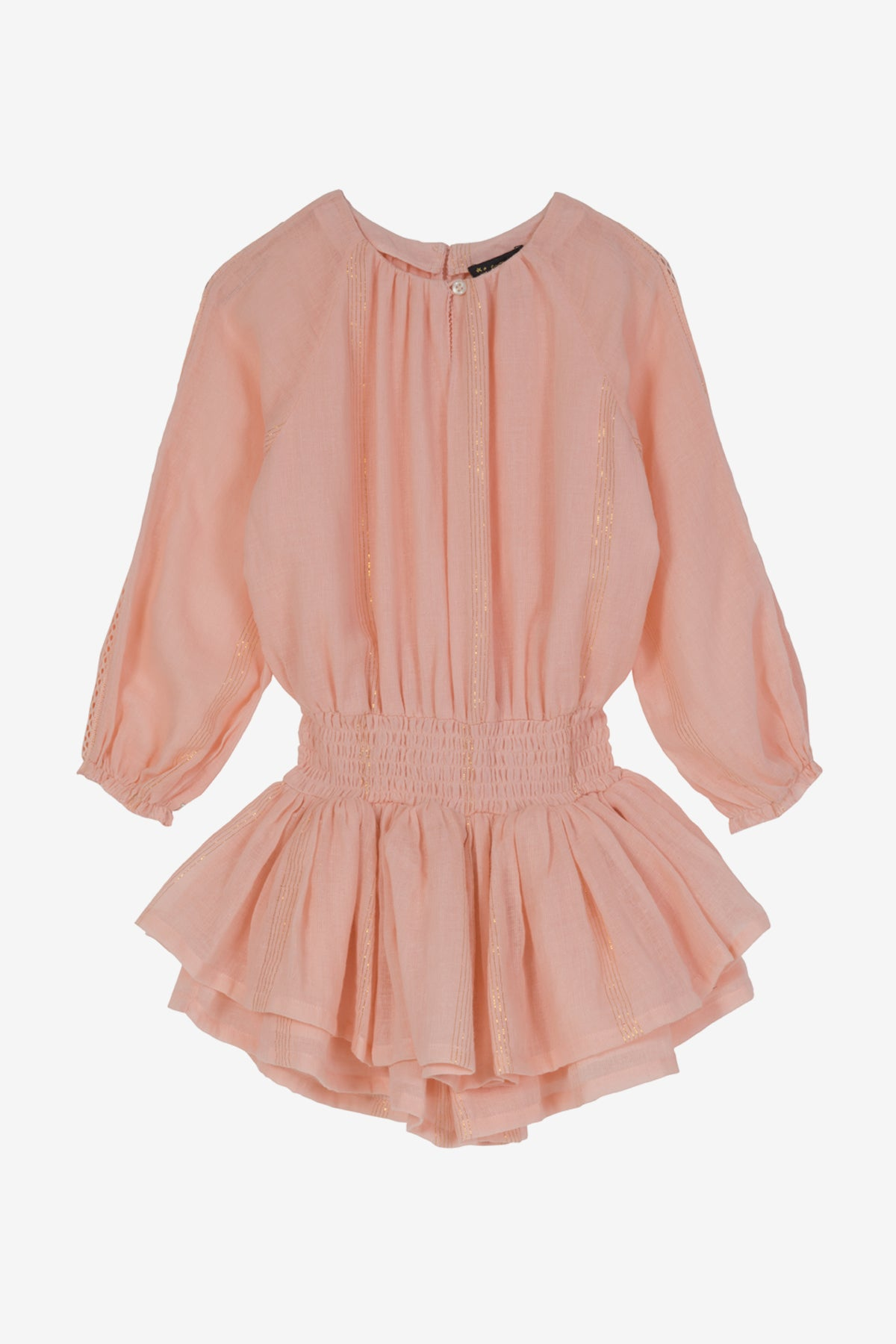 Velveteen Alissa Playsuit - Salt Gold Stripe