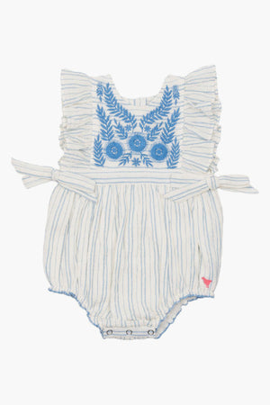 Pink Chicken Amy Baby Bubble Romper - Stripe