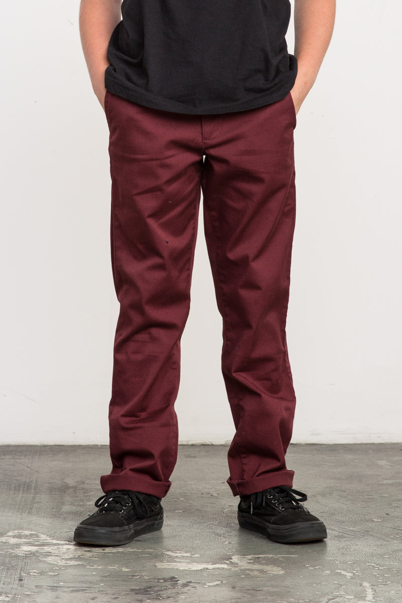 best loved a69f9 1e689 RVCA Weekday Stretch Pant - Bordeaux