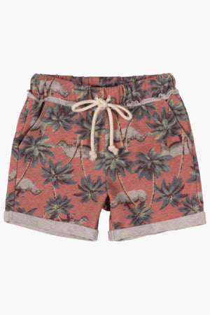 Paper Wings Red Jungle Rhino Shorts