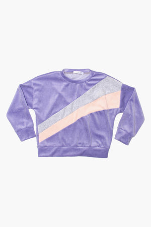 Joah Love Evans Purple Velour Sweatshirt