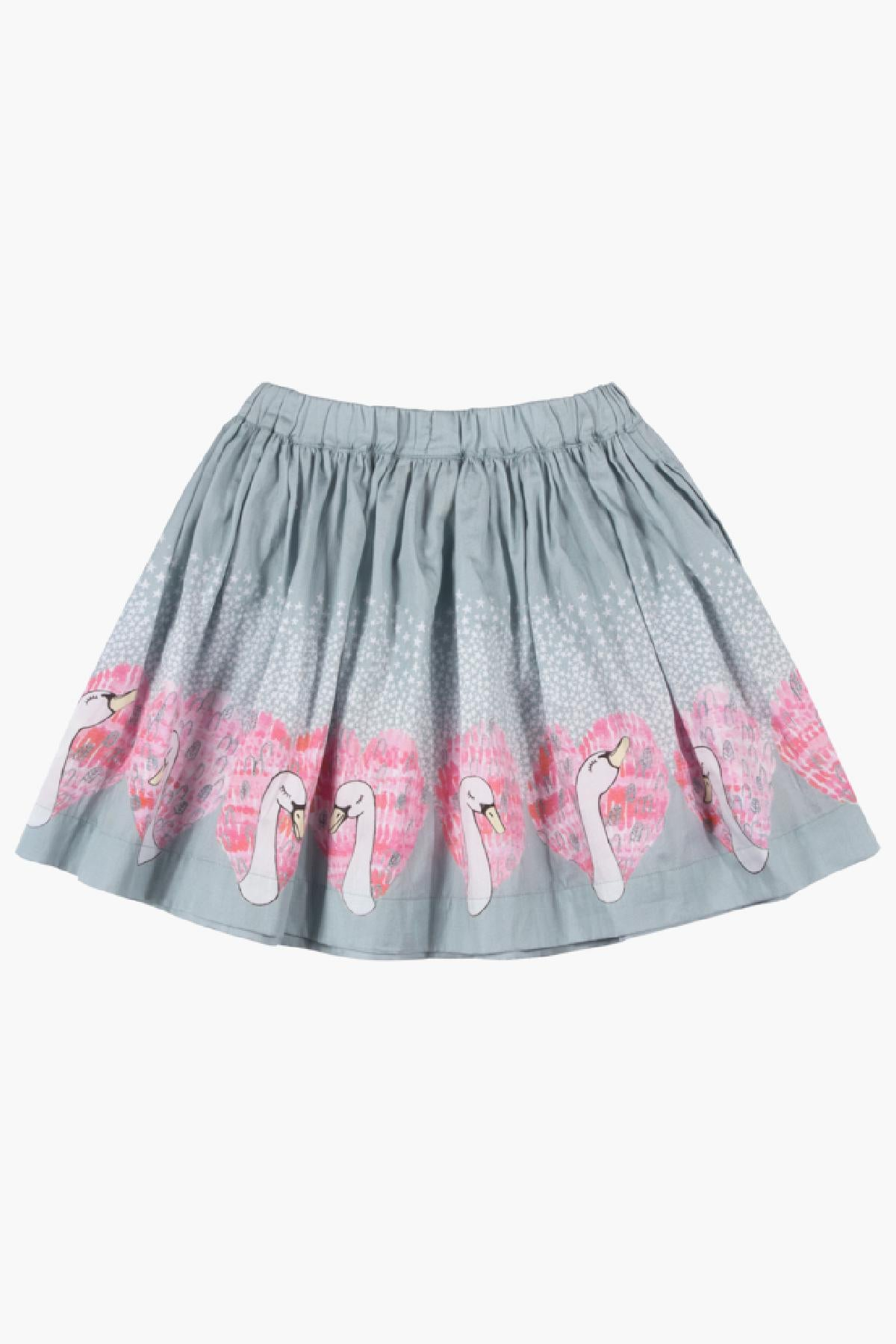 Paper Wings Heart Swans Skirt