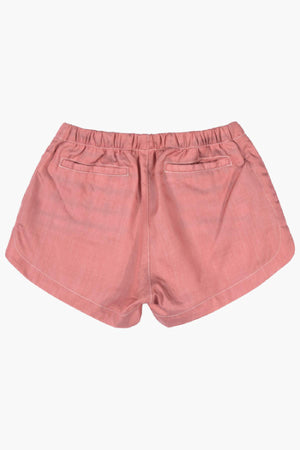 Paper Wings Pink Chambray Shorts