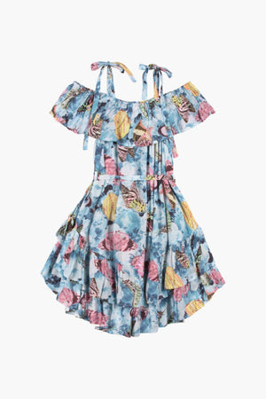 Paper Wings Vintage Butterfly Roses Dress