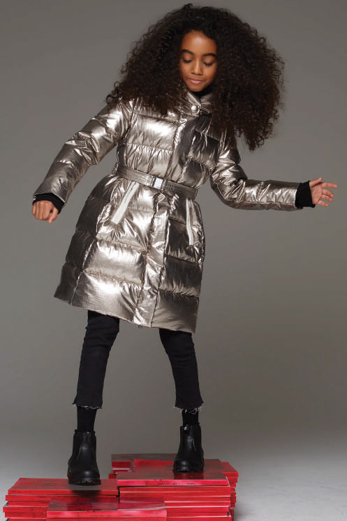 4626ce0ade9 ADD Down Girls Metallic Down Coat (Size 4 left) - Mini Ruby