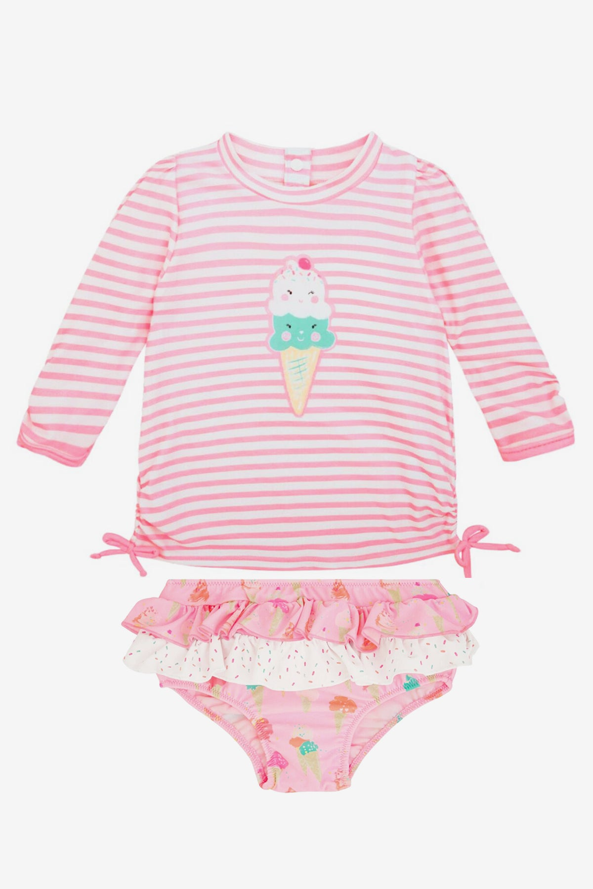 Sunuva Baby Girls Ice Cream Swim Set (Size 18/24M left)