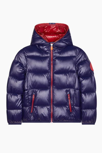 Save The Duck Evening Blue Puffy Boys Jacket