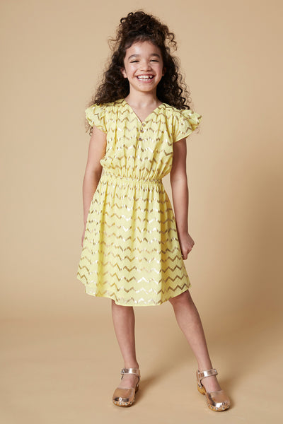 Velveteen Julieta Chevron Girls Dress